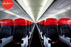 Nội thất của máy bay hãng Air Asia
