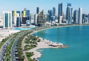 Thành phố Doha với những tòa nhà cao chọc trời