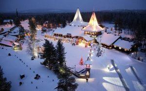 Phần Lan là quê hương ông già Noel với khung cảnh tuyết trắng