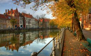 Một cảnh đẹp mùa thu nước Bỉ