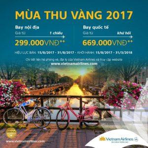 Chương trình mùa thu vàng với vé máy bay tết siêu rẻ