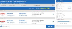 Vé máy bay từ Sài Gòn đi campuchia